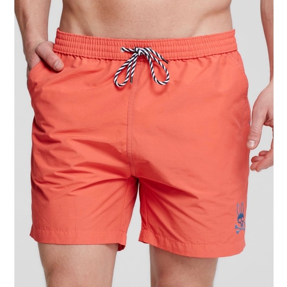 49539a187d Psycho Bunny Swim | Solid Coral Trunks Shorts Small | Poshmark